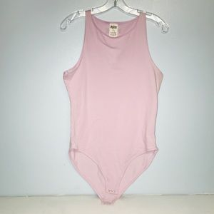 Pink women's large light purple bodysuit